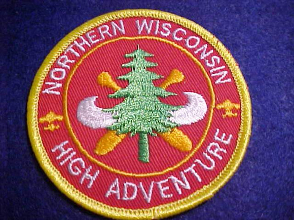 NORTHERN WISCONSIN HIGH ADVENTURE PATCH, NO BUTTON LOOP