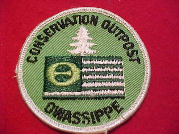 OWASSIPPE (MISSPELLED) CONSERVATION OUTPOST PATCH, USED