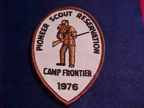PIONEER SCOUT RESV. PATCH, 1976, CAMP FRONTIER