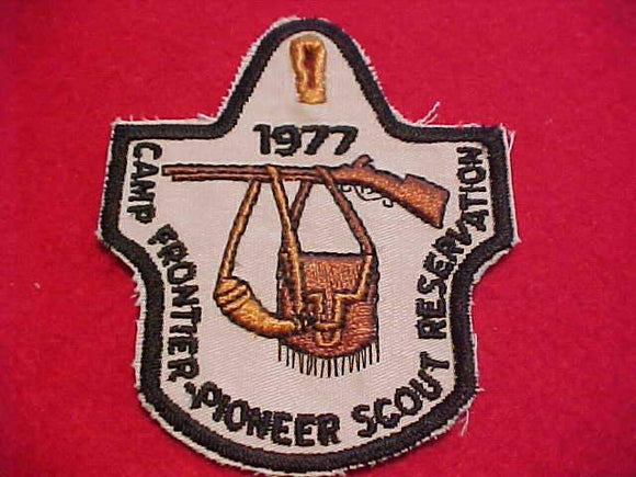 PIONEER SCOUT RESV. PATCH, 1977, CAMP FRONTIER