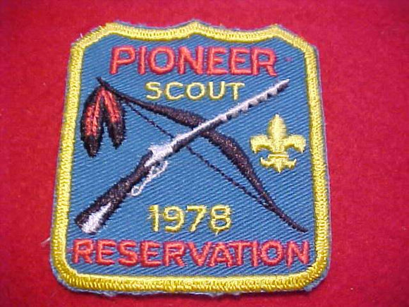 PIONEER SCOUT RESV. PATCH, 1978