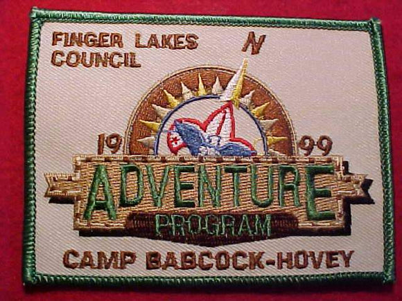 BABCOCK-HOVEY, 1999, FINGER LAKES C., ADVENTURE PROGRAM