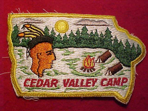CEDAR VALLEY CAMP, IOWA STATE SHAPE