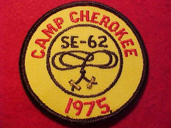 CHEROKEE, 1975, WOODBADGE SE-62 COURSE