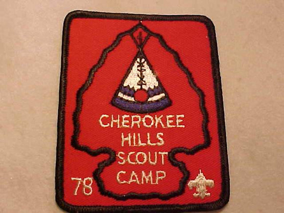 CHEROKEE HILLS SCOUT CAMP, 1978