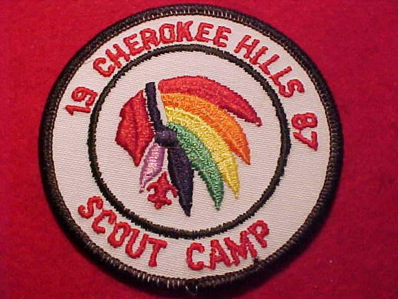 CHEROKEE HILLS SCOUT CAMP, 1987