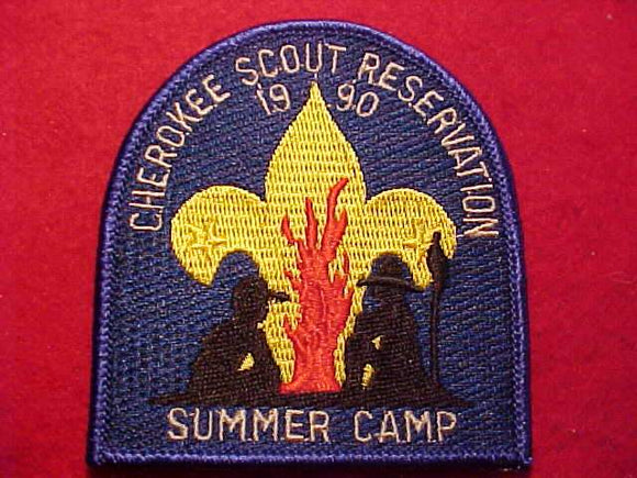 CHEROKEE SCOUT RESV., 1990, SUMMER CAMP