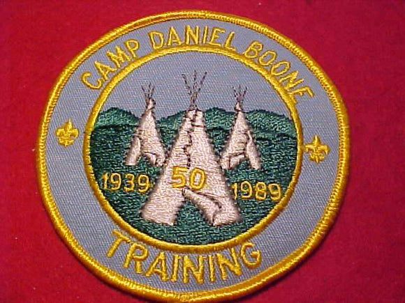 DANIEL BOONE, 1939-1989, TRAINING, YELLOW BDR.