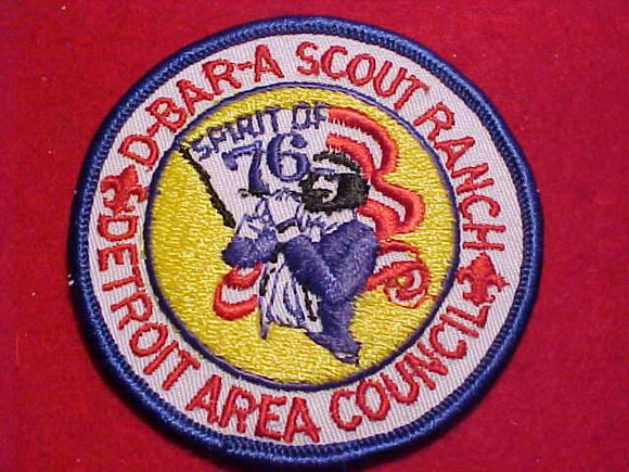 D-BAR-A SCOUT RANCH, 1976, DETROIT AREA C.