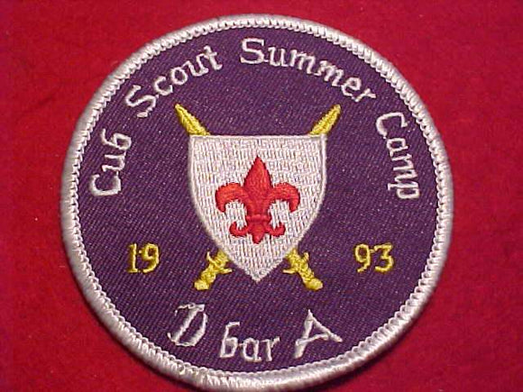 D-BAR-A, 1993, CUB SCOUT SUMMER CAMP