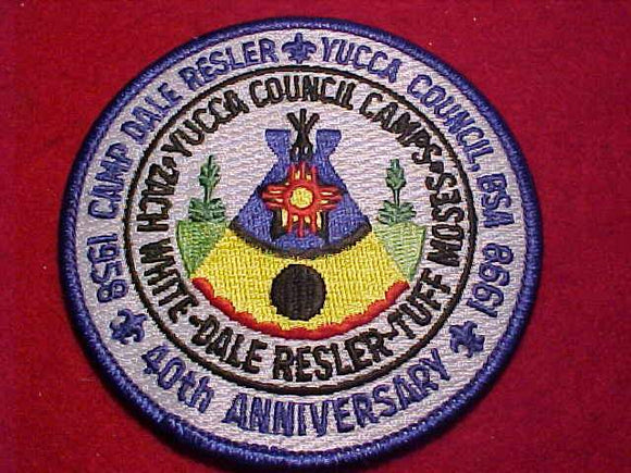 DALE RESLER, 1958-1998, YUCCA COUNCIL CAMPS - ZACH WHITE/DALE RESLER/TUFF MOSES