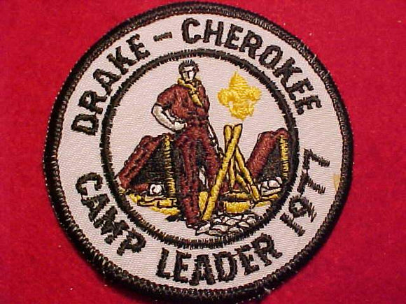 DRAKE-CHEROKEE CAMP LEADER, 1977