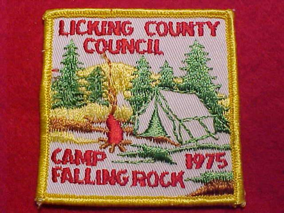 FALLING ROCK, 1975, LICKING COUNTY C.