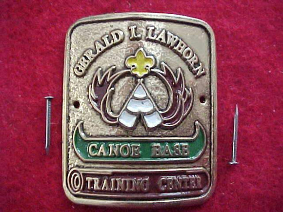 GERALD L. LAWHORN CANOE BASE TRAINING CENTER HIKING STICK EMBLEM