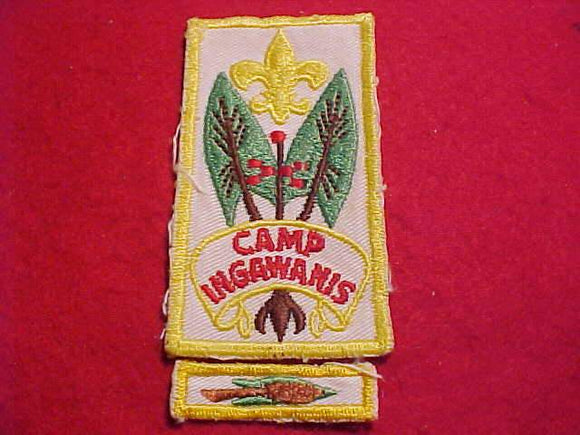 INGAWANIS PATCH + SEGMENT, 1960'S, USED