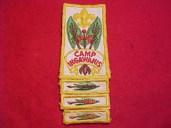 INGAWANIS PATCH +  3 SEGMENTS, USED