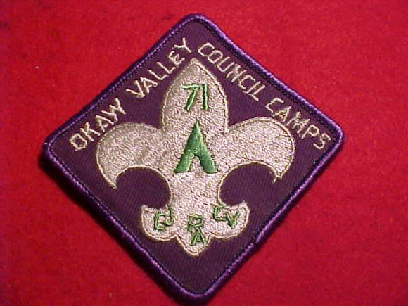 OKAW VALLEY COUNCIL CAMPS, 1971, USED
