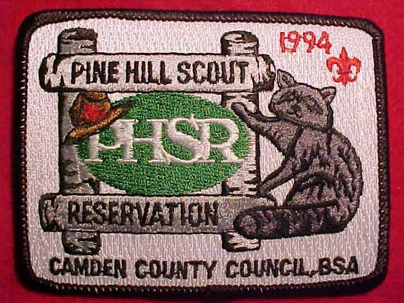 PINE HILL SCOUT RESV., 1994, CAMDEN COUNTY C.