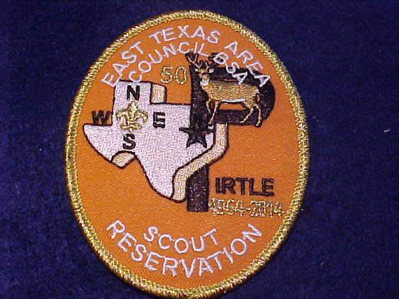 PIRTLE SCOUT RESV., 1964-2014, EAST TEXAS AREA C.