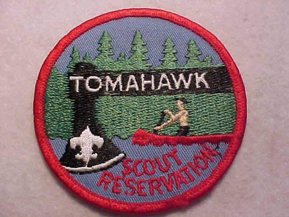 TOMAHAWK SCOUT RESV., CANOEING, RED BDR.