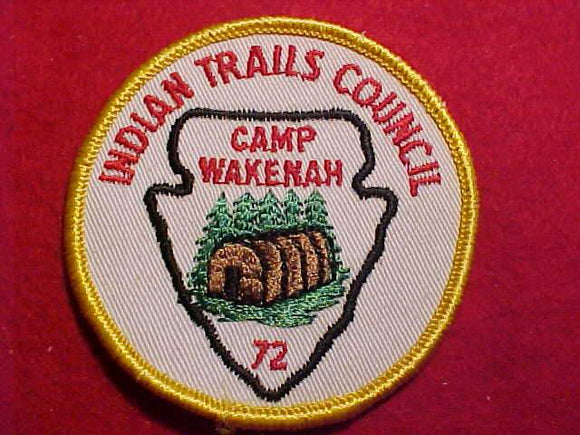 WAKENAH, 1972, INDIAN TRAILS C.