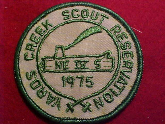 YARDS CREEK SCOUT RESV., 1975, NE-IV S WOODBADGE