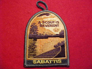 SABATTIS, A SCOUT IS REVERENT