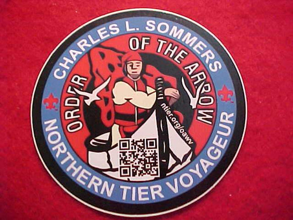 CHARLES L. SOMMERS/ORDER OF THE ARROW/NORTHERN TIER VOYAGER STICKER