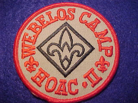 HEART OF AMERICA C. PATCH, WEBELOS CAMP II