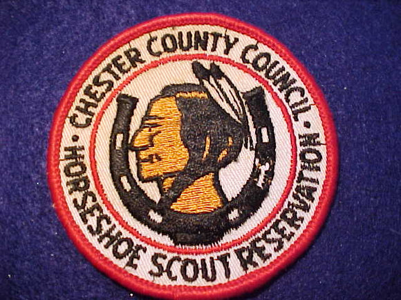 HORSESHOE SCOUT RESV. PATCH, STAINED