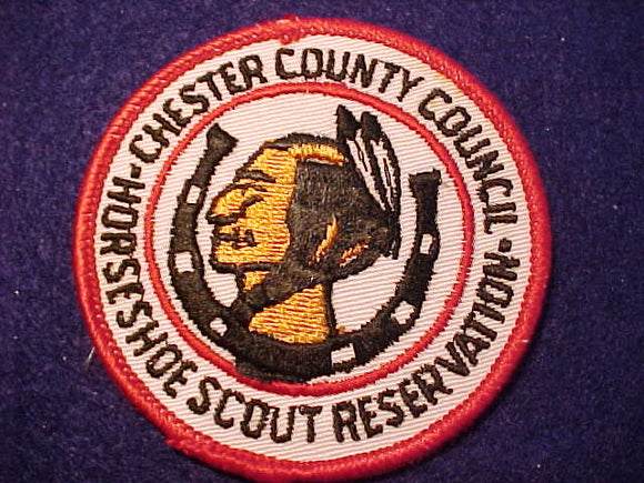HORSESHOE SCOUT RESV. PATCH, MINT FRONT-GLUE ON BACK