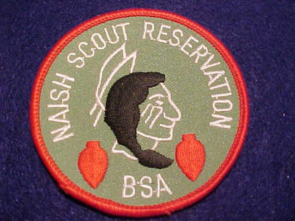 NAISH SCOUT RESV. PATCH, LT. GREEN TWILL, SCOUT STUFF BACK