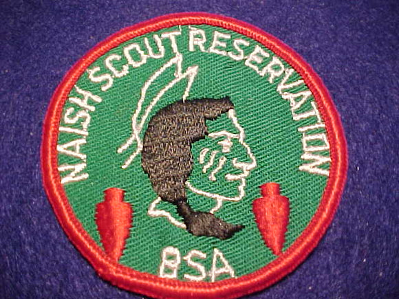 NAISH SCOUT RESV. PATCH, CLOTH BACK, DK. GREEN TWILL