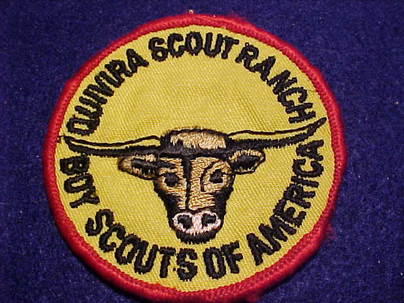 QUIVIRA SCOUT RANCH PATCH, 1960'S, 3