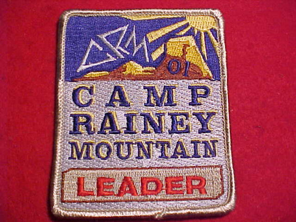 RAINEY MOUNTAIN PATCH, 2001, LEADER