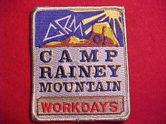 RAINEY MOUNTAIN PATCH, 2001, WORKDAYS