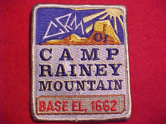 RAINEY MOUNTAIN PATCH, 2001, BASE EL. 1662