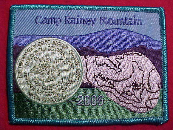 RAINEY MOUNTAIN PATCH, 2006, TEAL BDR.