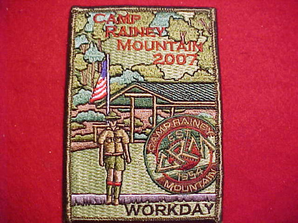 RAINEY MOUNTAIN PATCH, 2007, WORKDAY