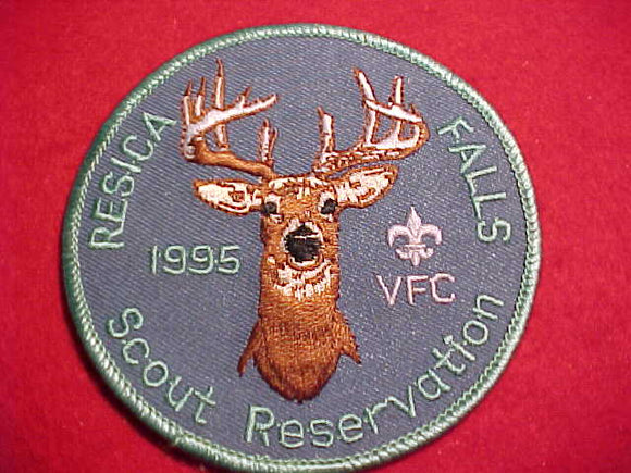 RESICA FALLS SCOUT RESV. PATCH, 1995, VALLEY FORGE C.