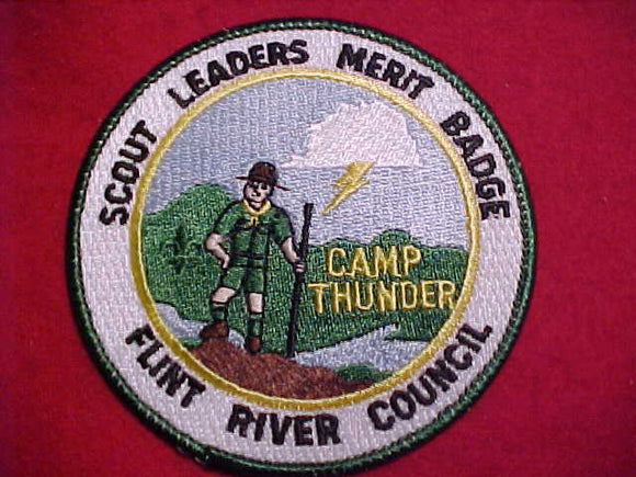 THUNDER PATCH, FLINT RIVER C., SCOUT LEADERS MERIT BADGE