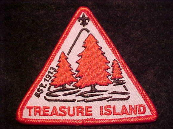 TREASURE ISLAND PATCH, EST. 1913, TRIANGLE SHAPE