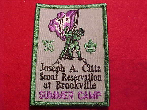 JOSEPH A. CITTA SCOUT RESV. AT BROOKVILLE, 1995 SUMMER CAMP