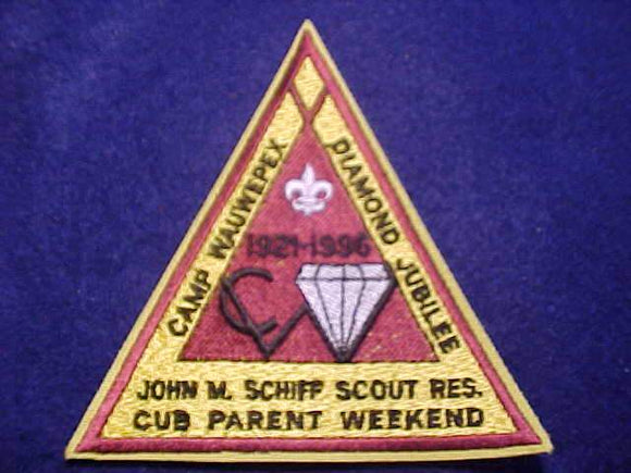 WAUWEPEX, 1921-1996, JOHN M. SCHIFF SCOUT RESV., CUB PARENT WEEKEND