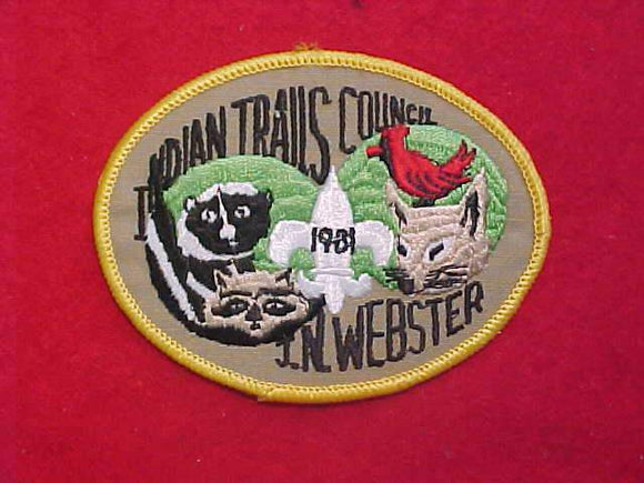 J.N. WEBSTER, 1981, INDIAN TRAILS COUNCIL