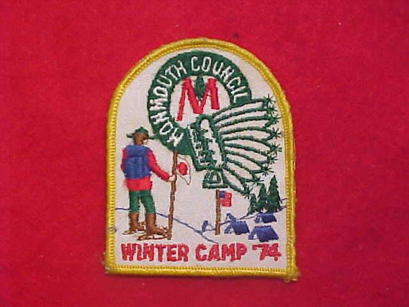 MONMOUTH COUNCIL WINTER CAMP, 1974, USED