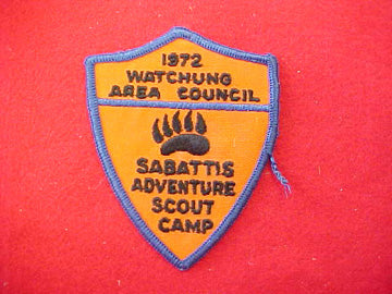 Sabattis Adventure Scout Camp 1972
