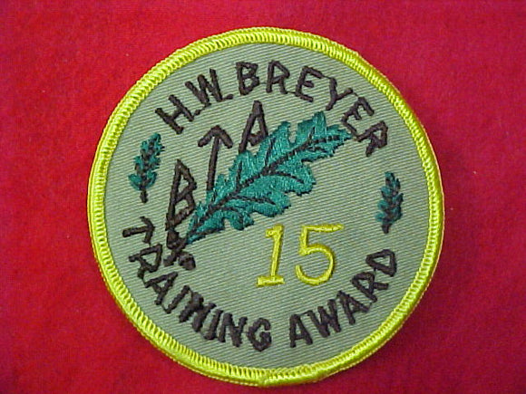 H.W.Breyer 15 Training award
