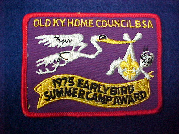 Old Kentucky Home council 1975 early bird summer camp award