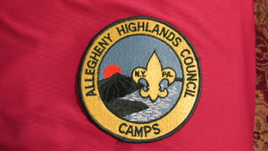"Allegheny Highlands Council Camps, 6"" round"